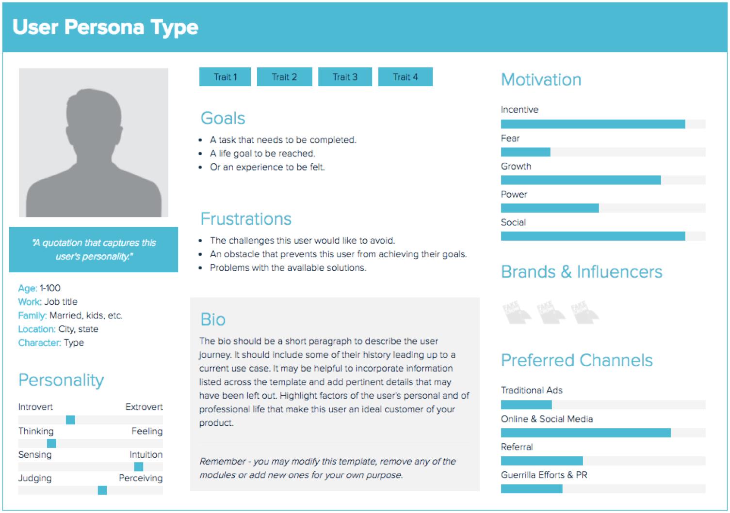 user persona untuk riset content marketing