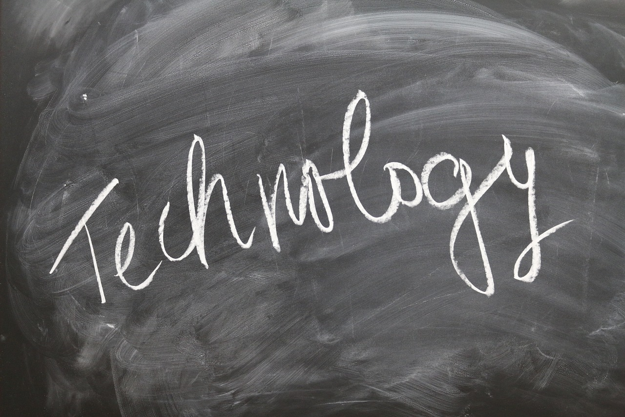 Blackboard with the word Technology