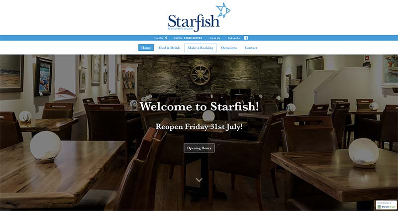 Market Argyll - Website mockup