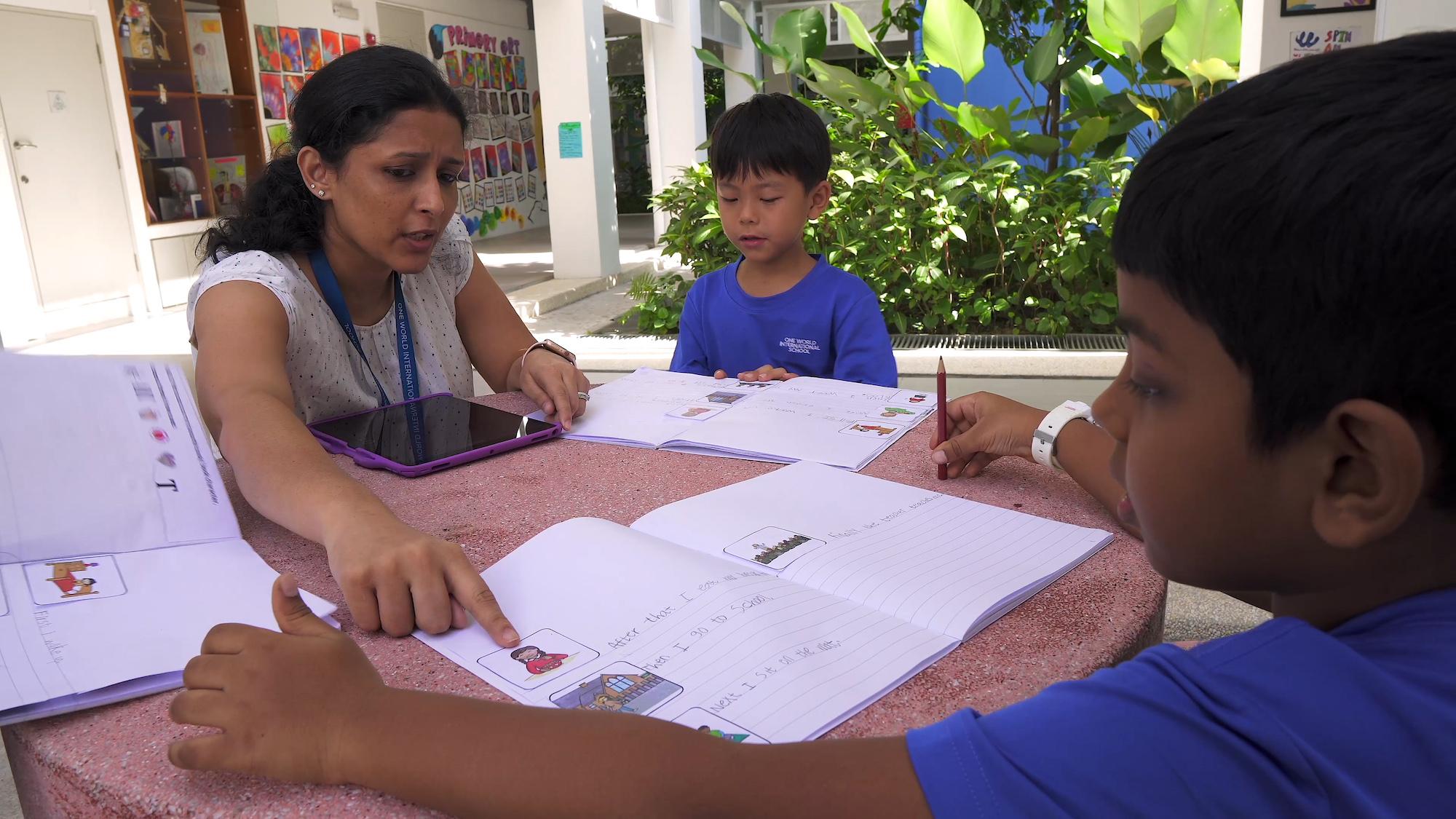 OWIS teachers use positive language to motivate preschool students