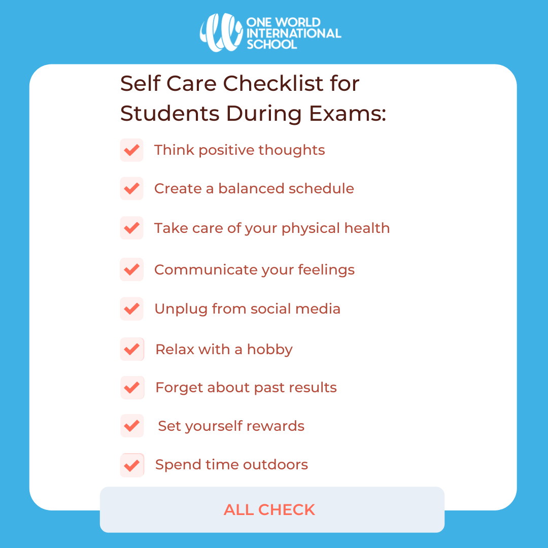 Self-care tips for students for exams - by OWIS
