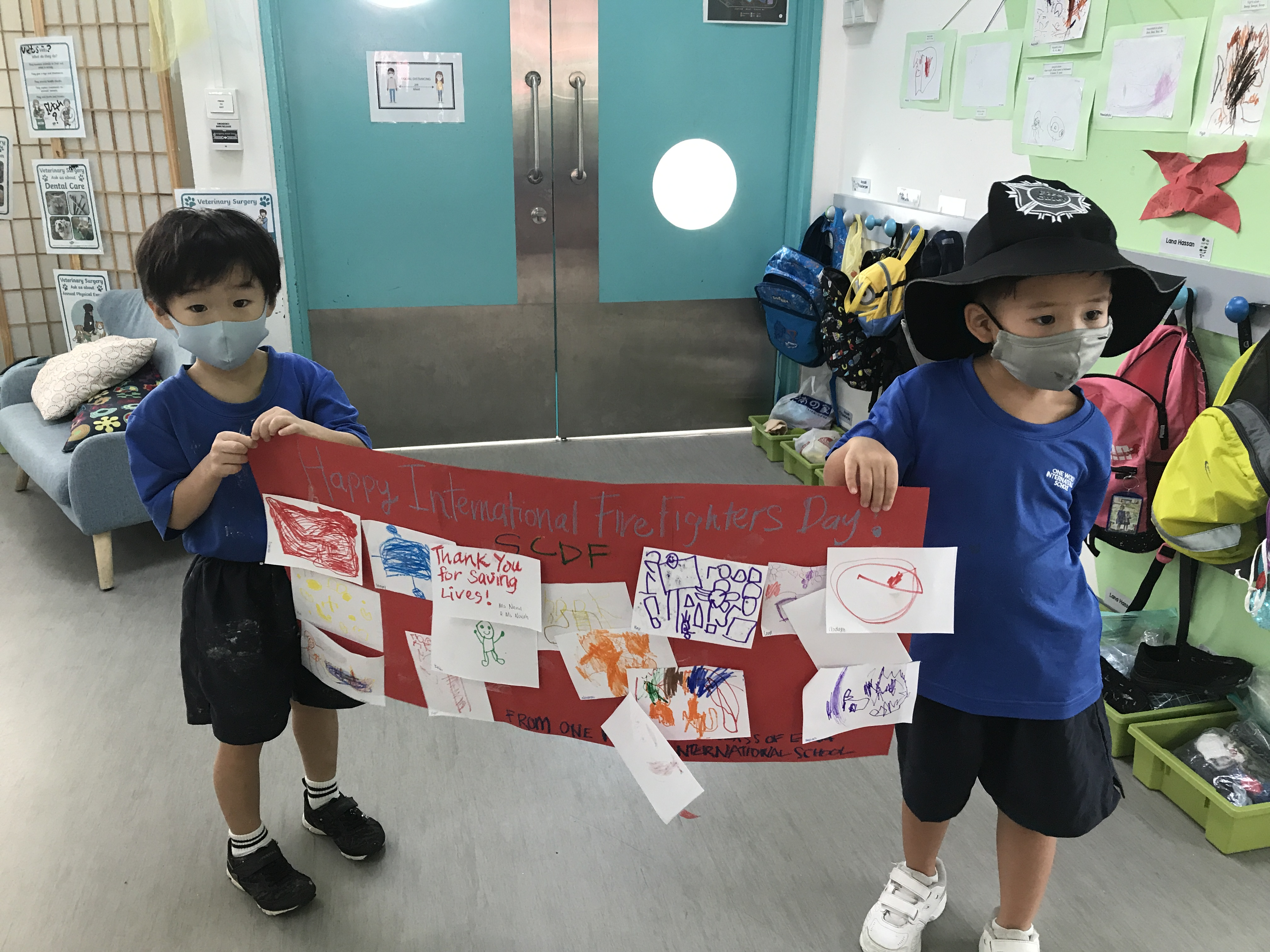 OWIS Early Childhood Students Celebrate International Firefighter Day - 7