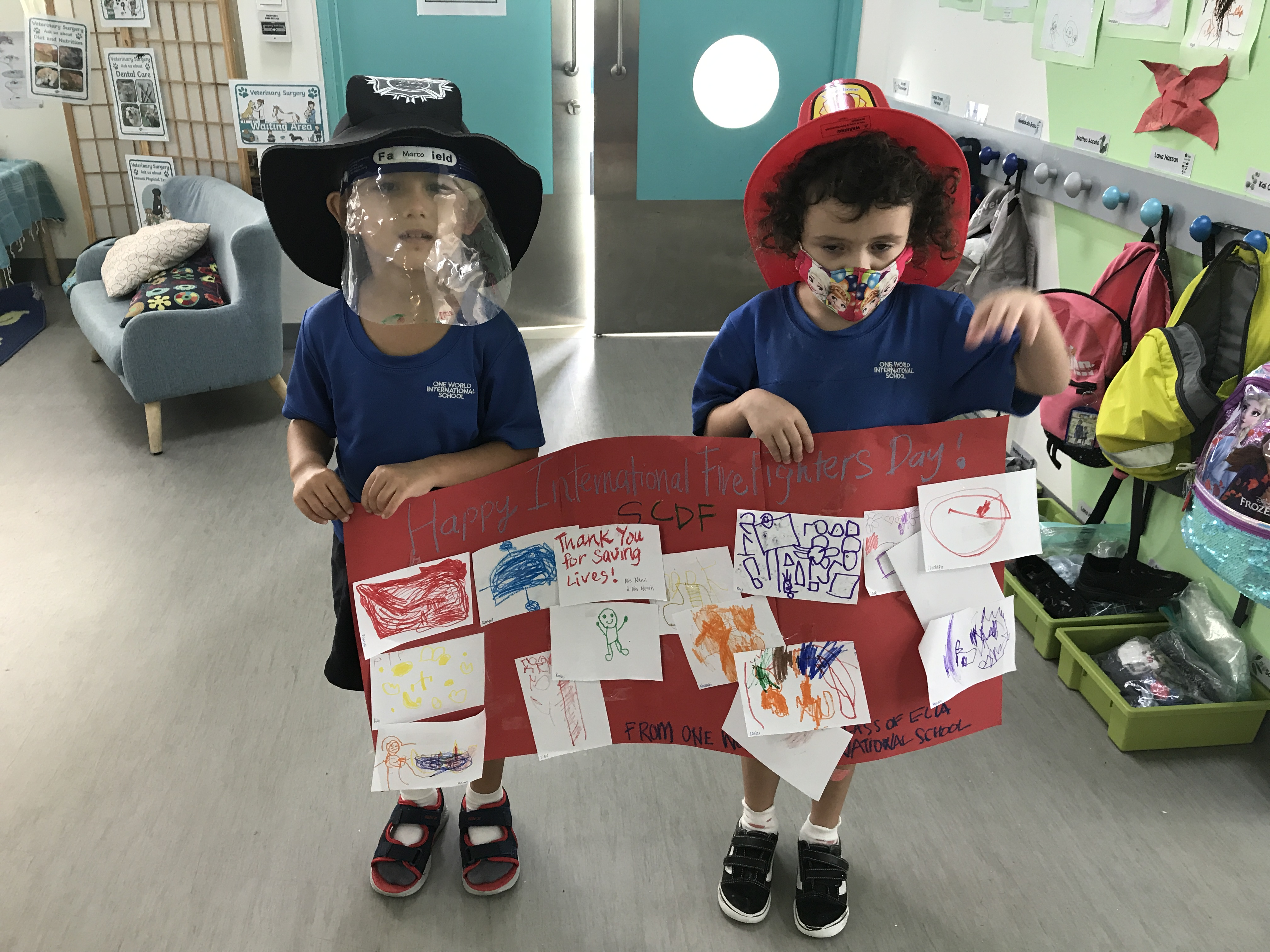 OWIS Early Childhood Students Celebrate International Firefighter Day - 5