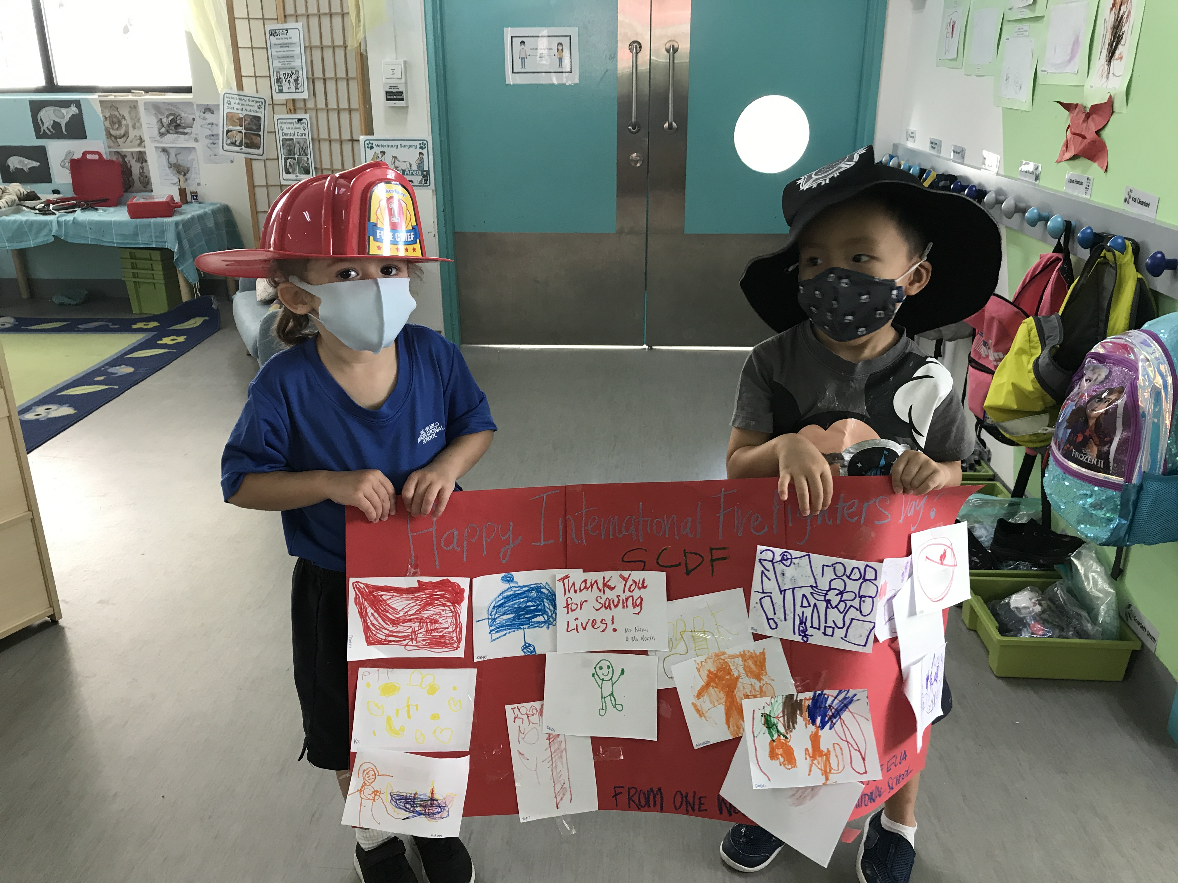 OWIS Early Childhood Students Celebrate International Firefighter Day - 4