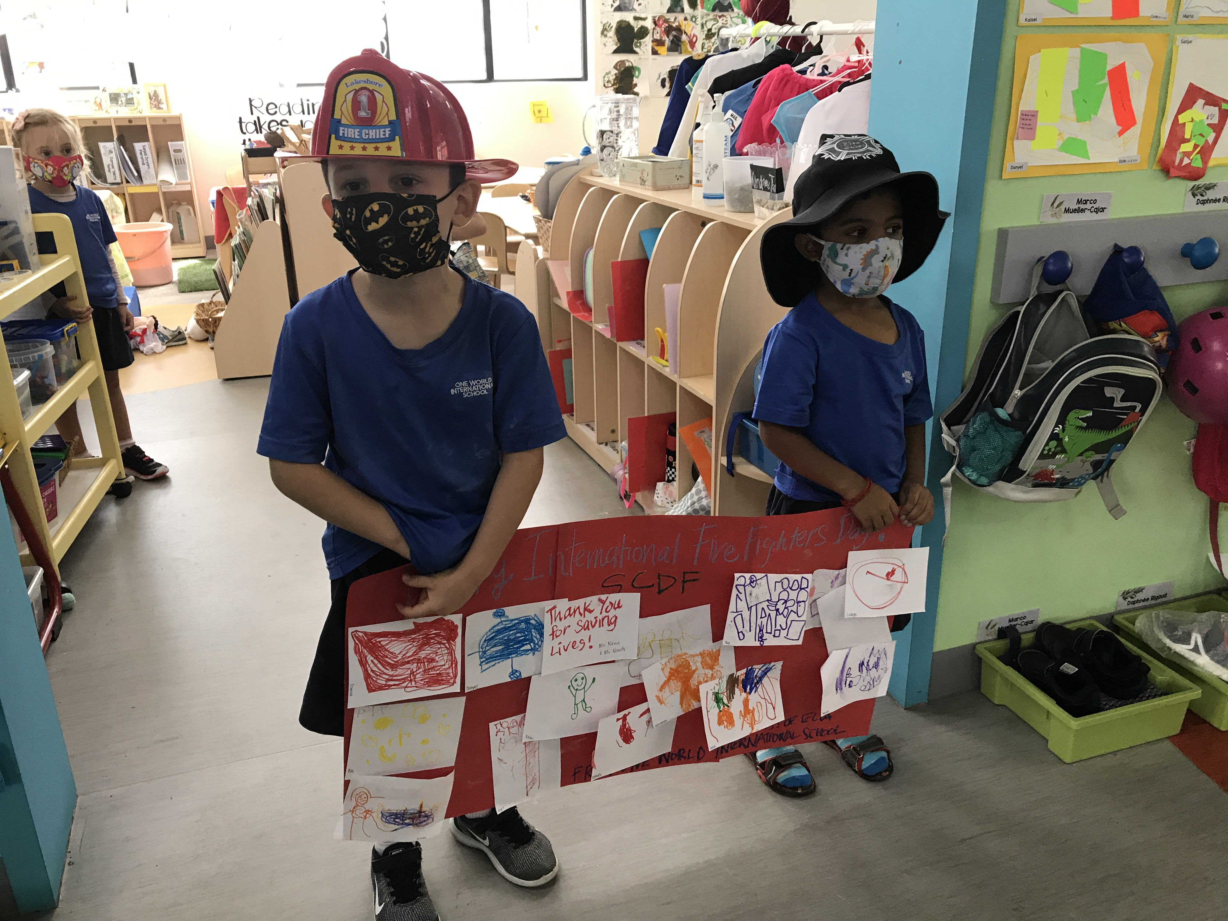 OWIS Early Childhood Students Celebrate International Firefighter Day - 1