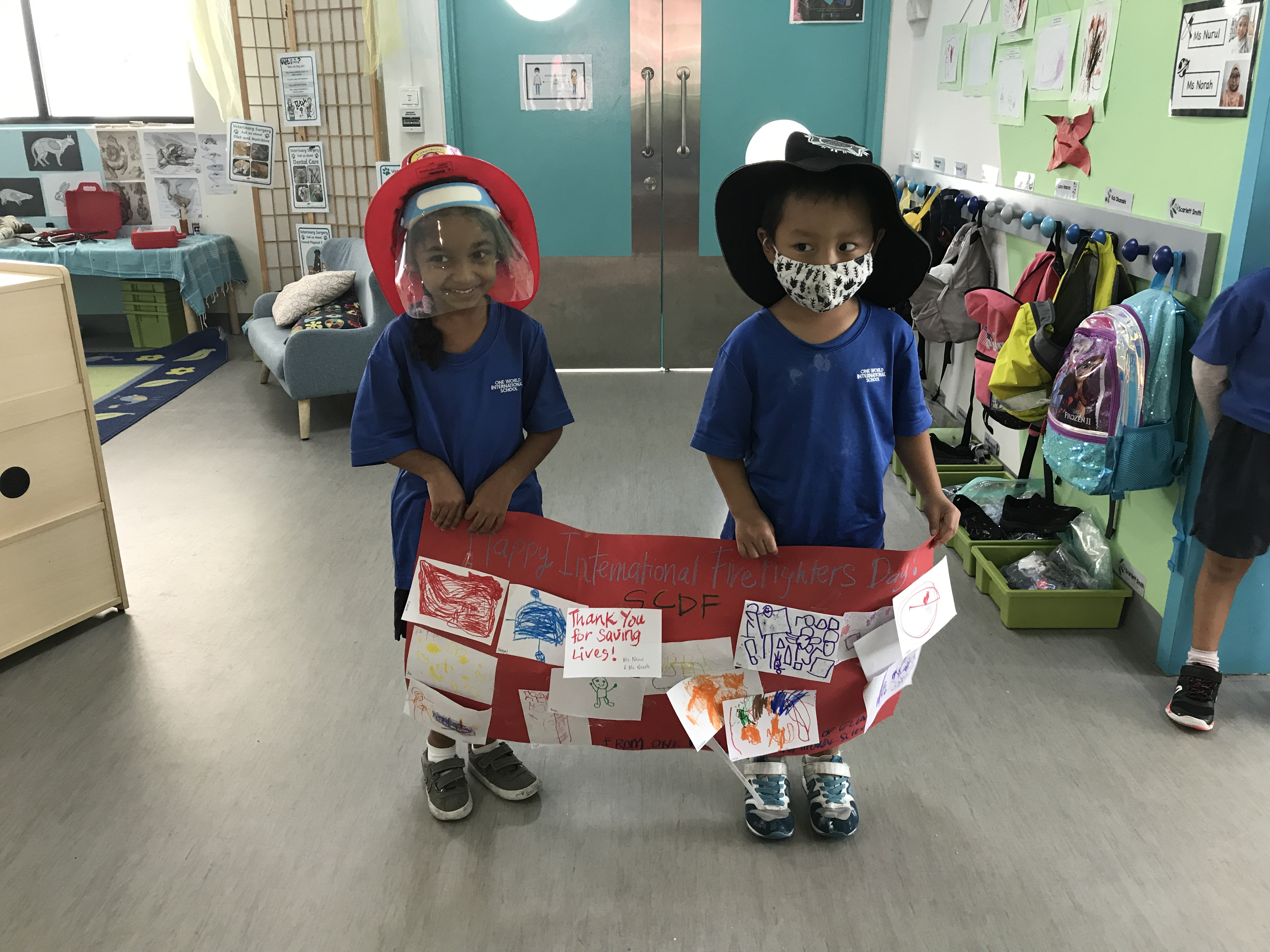 OWIS Early Childhood Students Celebrate International Firefighter Day - 3