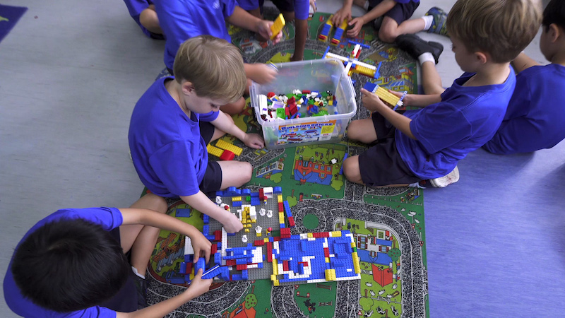 hands-on, play-based activities at OWIS in Early Childhood Preschool