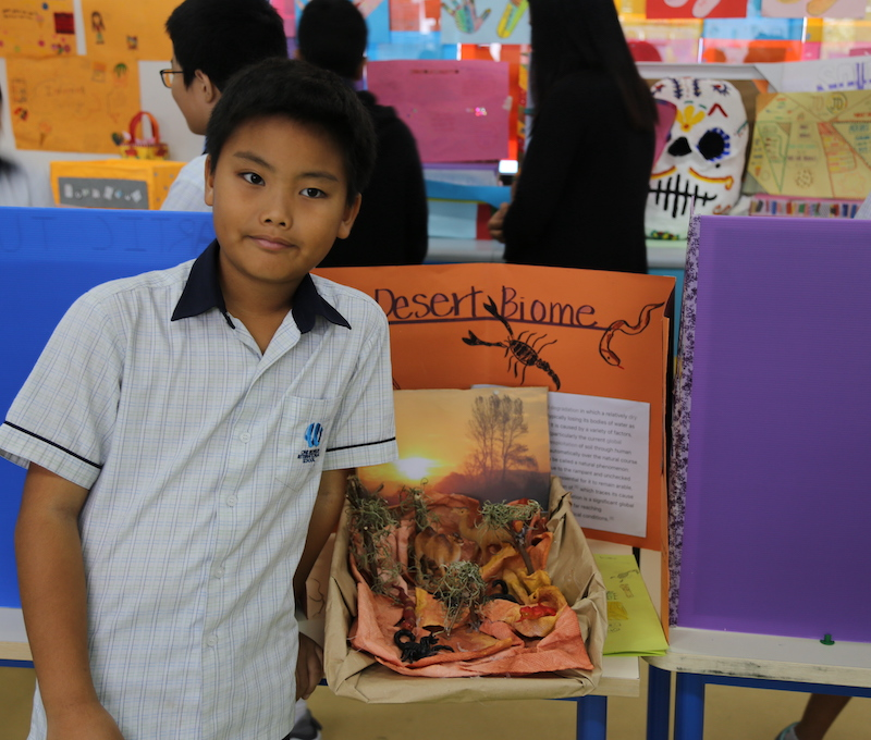 OWIS Primary Student in UOI Exhibition