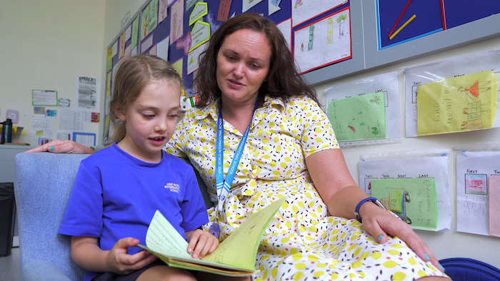OWIS teachers help students to gain confidence with positive language