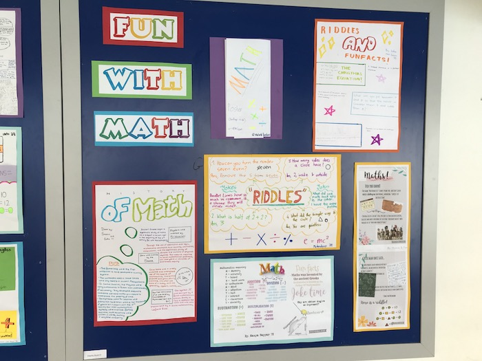 OWIS gets decorated with interesting posters on Maths Morning 2021