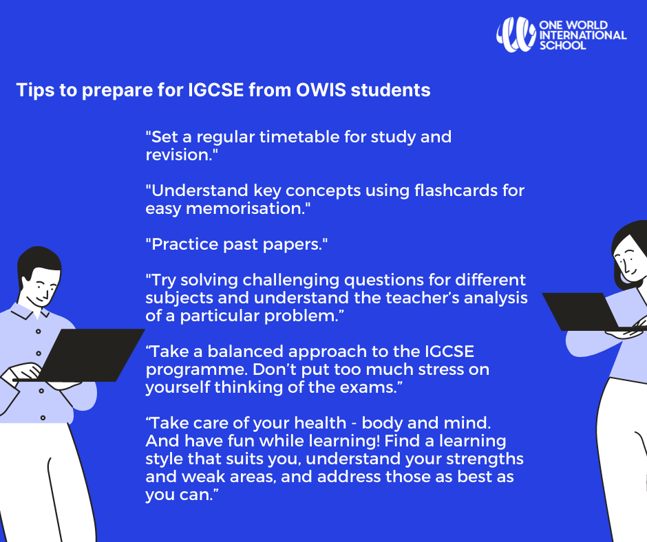 What are tips to prepare for IGCSE - by OWIS students