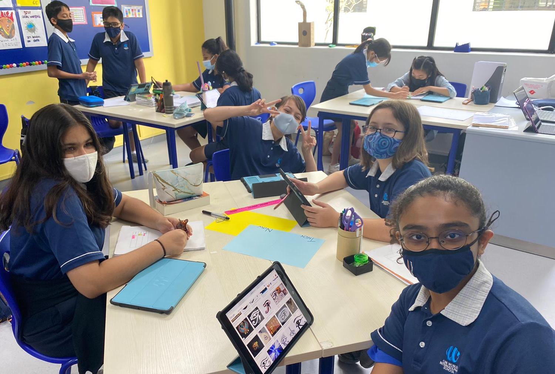 The Grade 6 class of 2020-21 enjoys an interesting Maths morning
