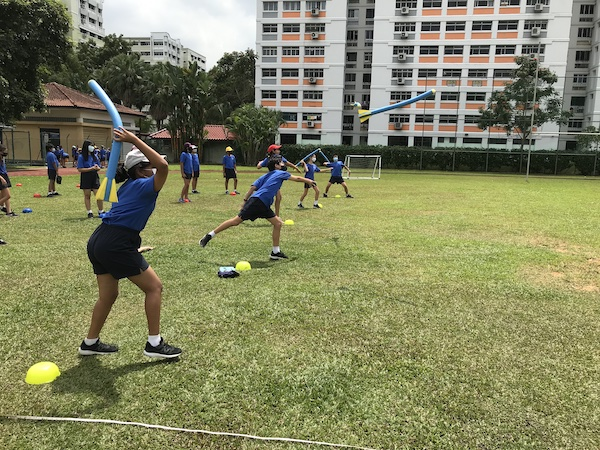 OWIS Sports Olympics Day 2021 - javelin throw - primary girls