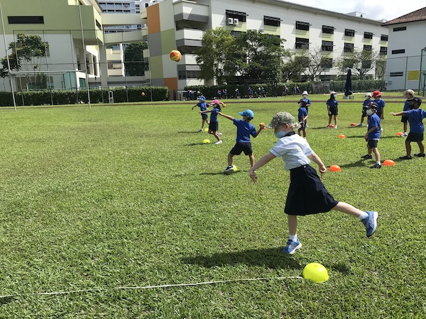 OWIS Sports Olympics Day 2021 - javelin throw - primary girl students