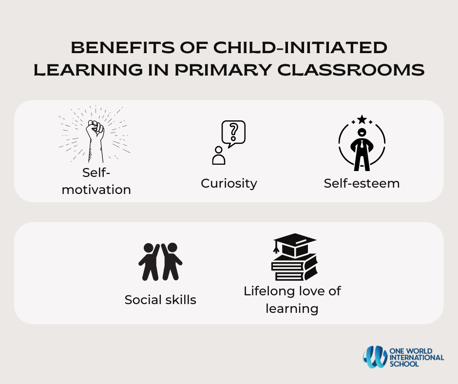 Benefits of child-led learning opportunities in primary grades
