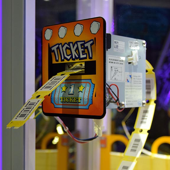 Tickets only No cards or chips in game play