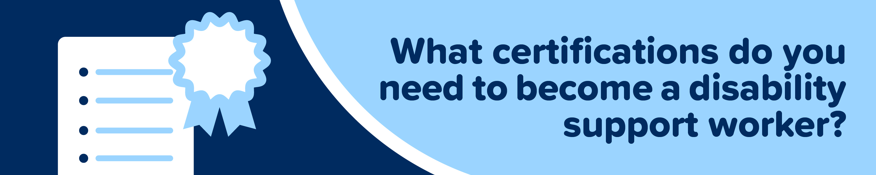 What certifications do you need to become a disability support worker?