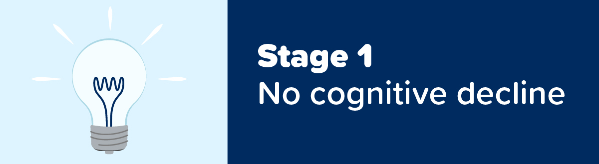 Stage 1 of 7 Dementia Stages: No Cognitive Decline