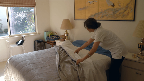 Overnight home care for the elderly