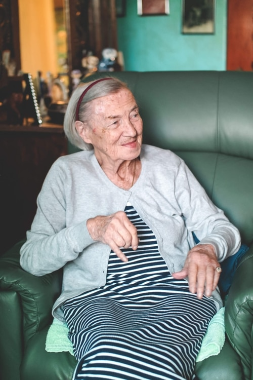 A live-in carer helped support Marion