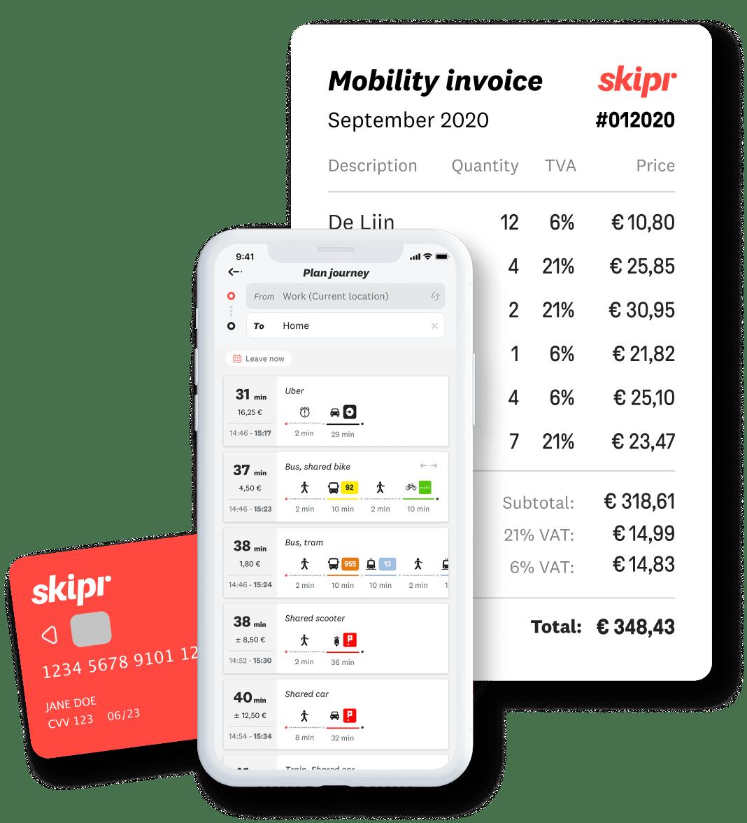 Een afbeelding van het volledige Skipr-aanbod.