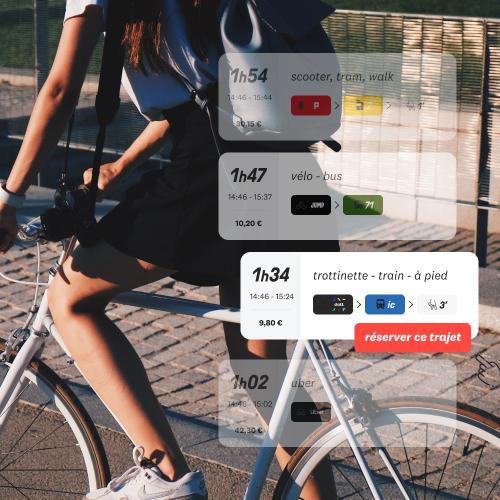 La carte des partenaires Skipr disponibles près de chez vous montrant les différentes alternatives de mobilité à la voiture.
