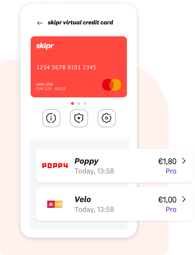 The Skipr mobile application and the Skipr platform showing the complete SAAS offer.