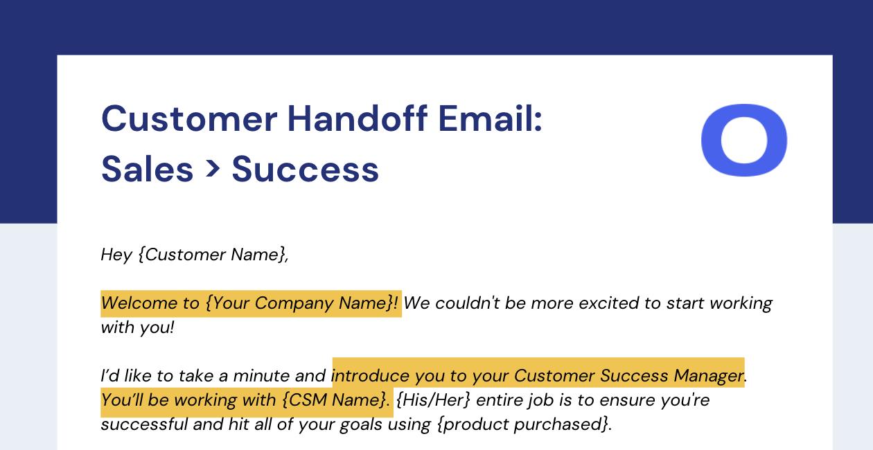 Customer Handoff: Sales to Success