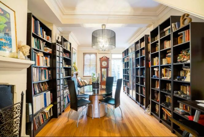 Sydney Airbnb Library Ornate Gold Pyrmont