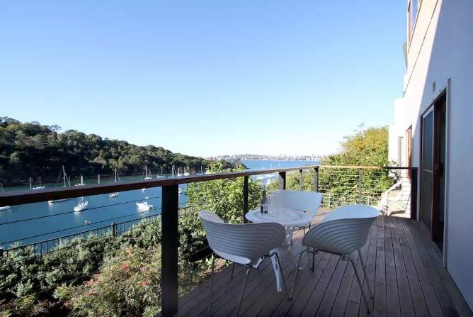 Mosman Property Balcony View Airbnb Sydney