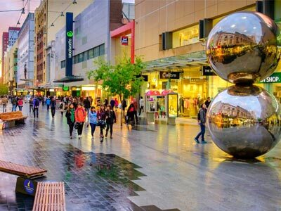 Adelaide CBD shopping centre