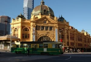 Flinder street Tram in Melbourne