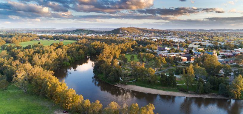 Murrumbidgee River in Wagga Wagga