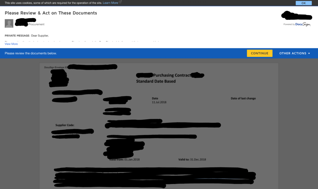 Avoiding data leaks with automation Screenshot of leaked purchase agreement