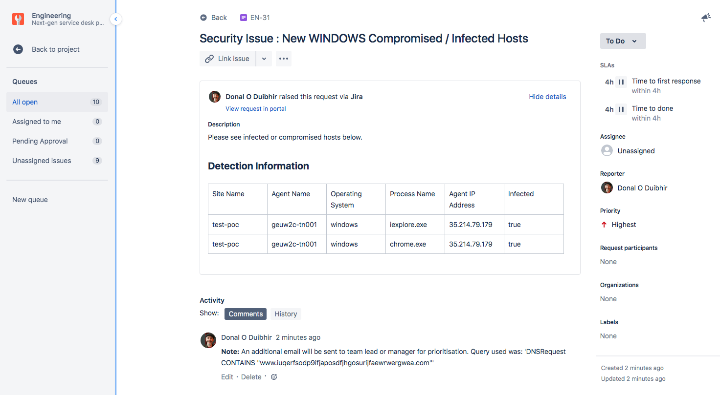 Jira Service Desk Ticket Automatically Created by Sub-Story Automation
