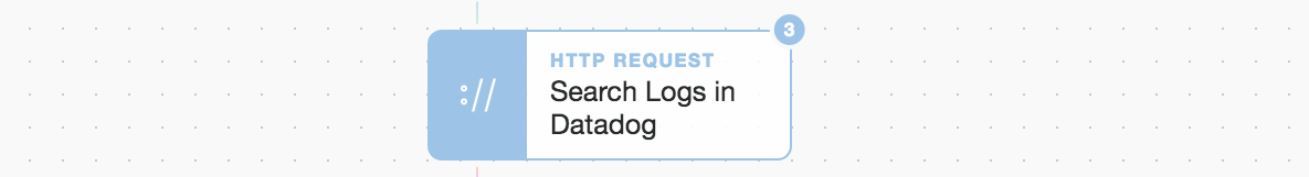 Datdog log search from Tines