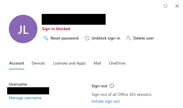 (View from https://admin.microsoft.com/Adminportal/Home#/users account management)