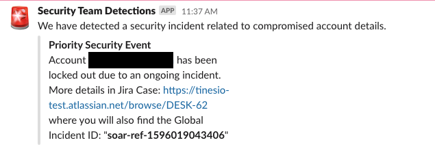 (Slack message to the Helpdesk team from right-hand side of story)