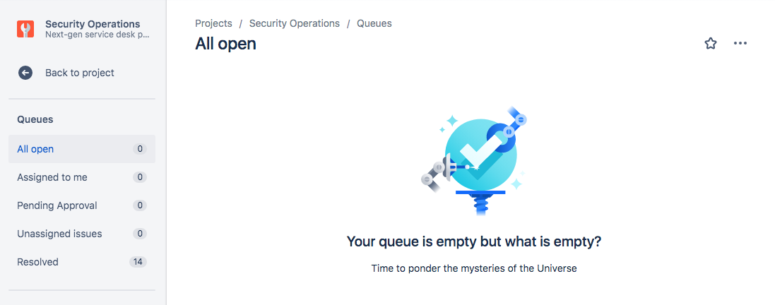 ( The ever-elusive end-goal of an empty queue! )
