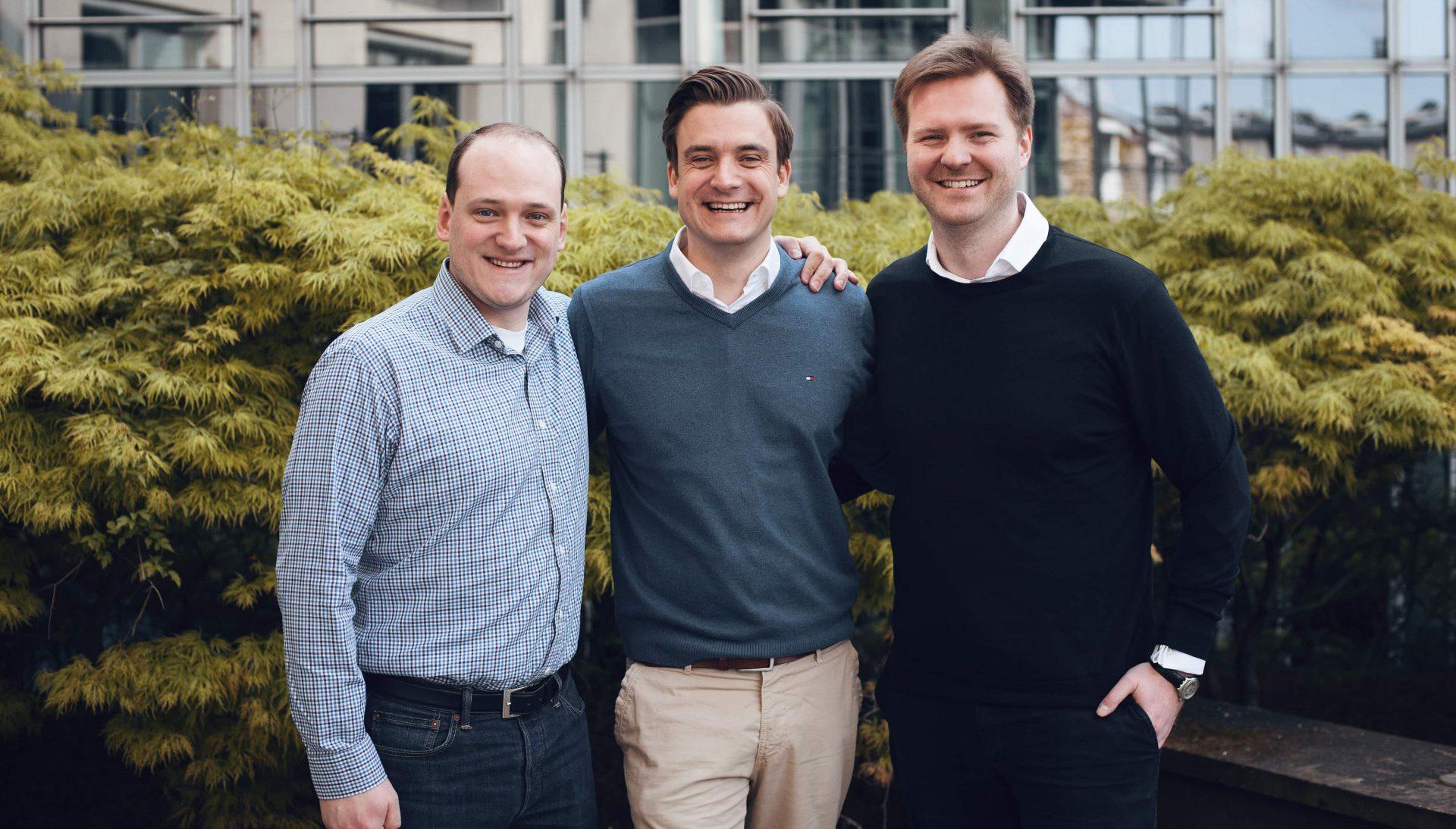 Die drei Gründer von Enpal: Viktor Wingert, Mario Kohle und Jochen Ziervogel