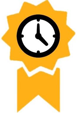 Ein Symbol, das die Laufzeit der Garantie darstellt