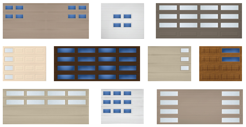 Modern Steel Mosaic WIndows Amarr  RW Garage Doors