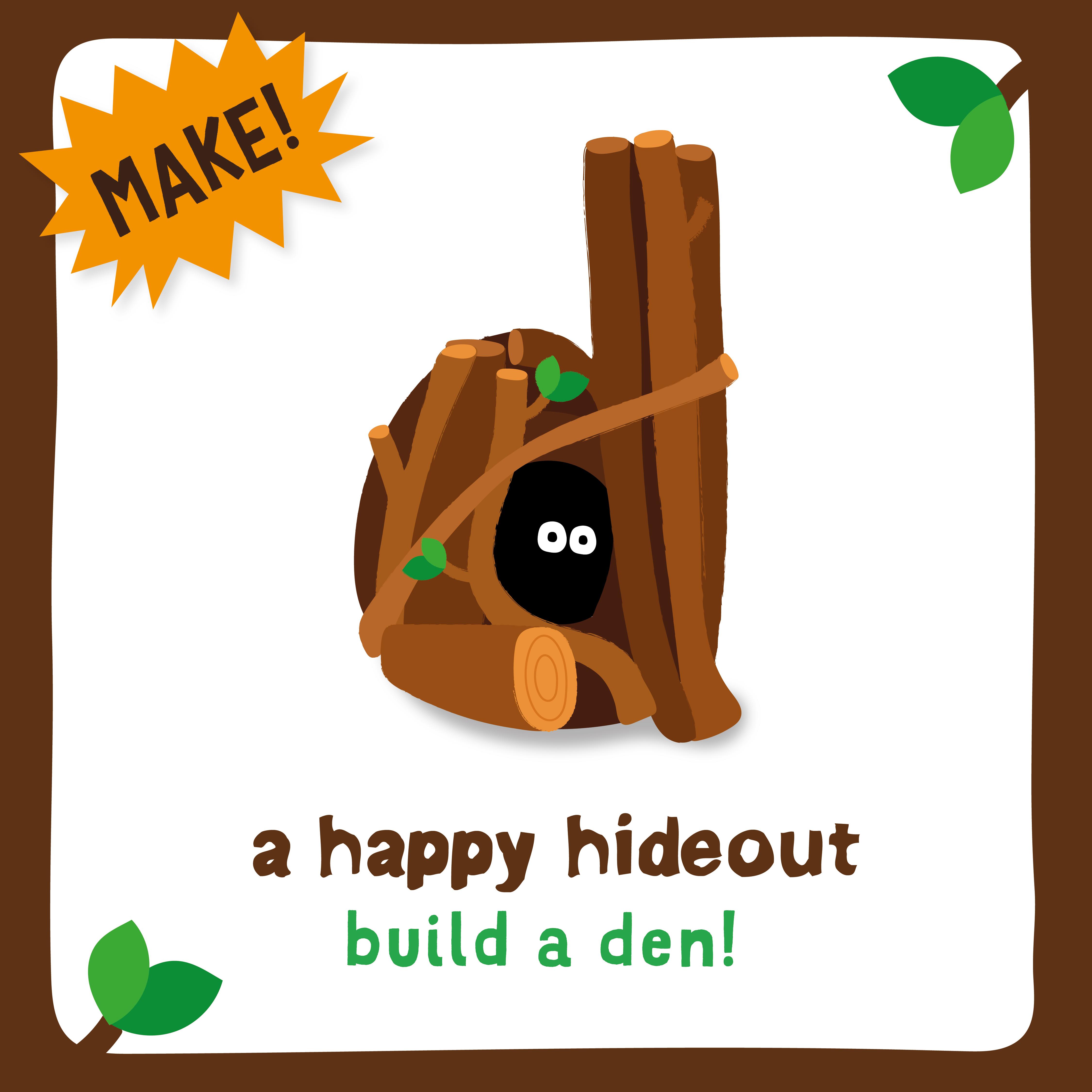 Build a BEAR den activity all in your own garden