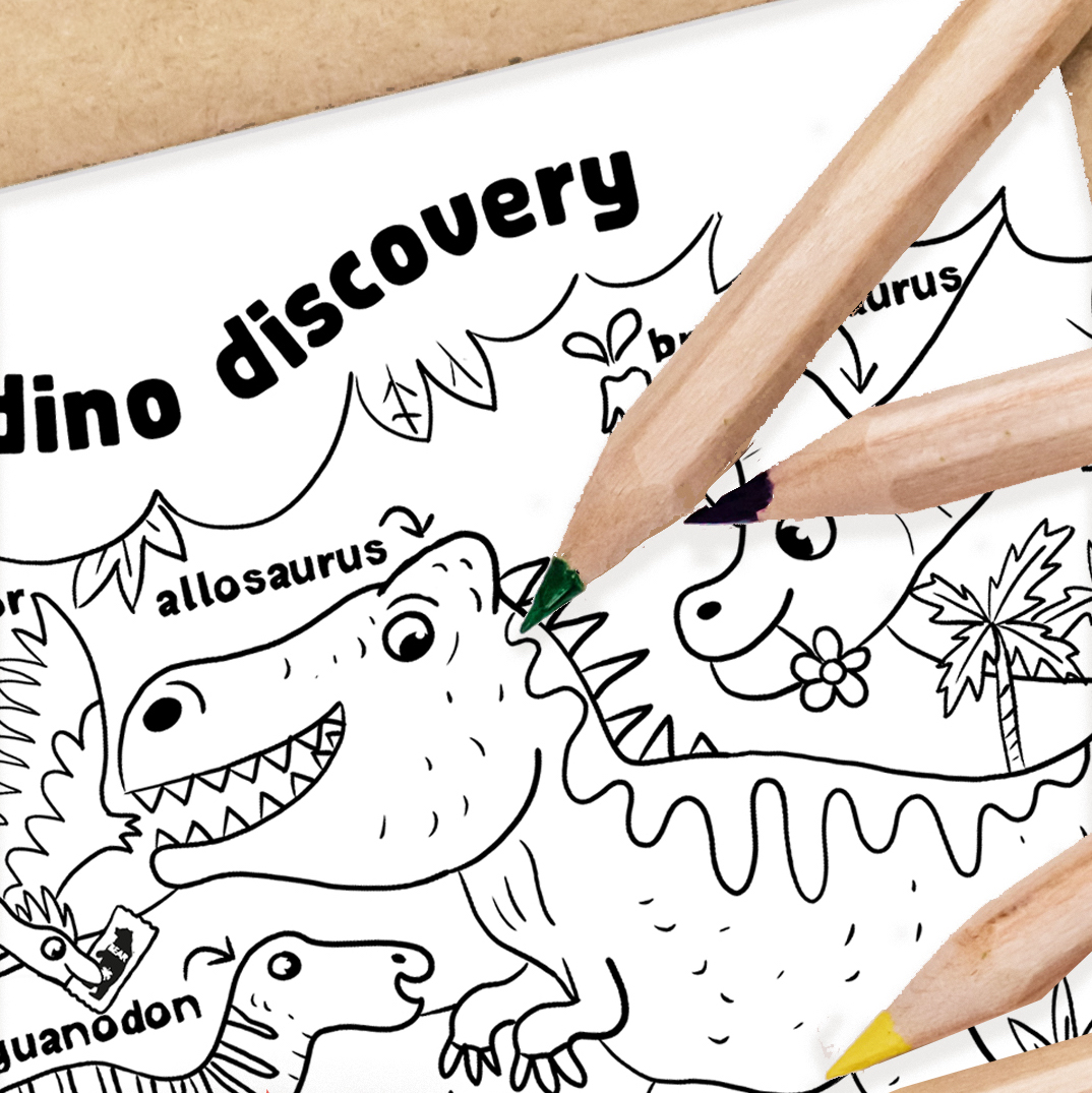 Colour in BEAR's Dino Discovery Activity Cave