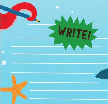 Write a poem underwater activity BEAR's Activity Cave