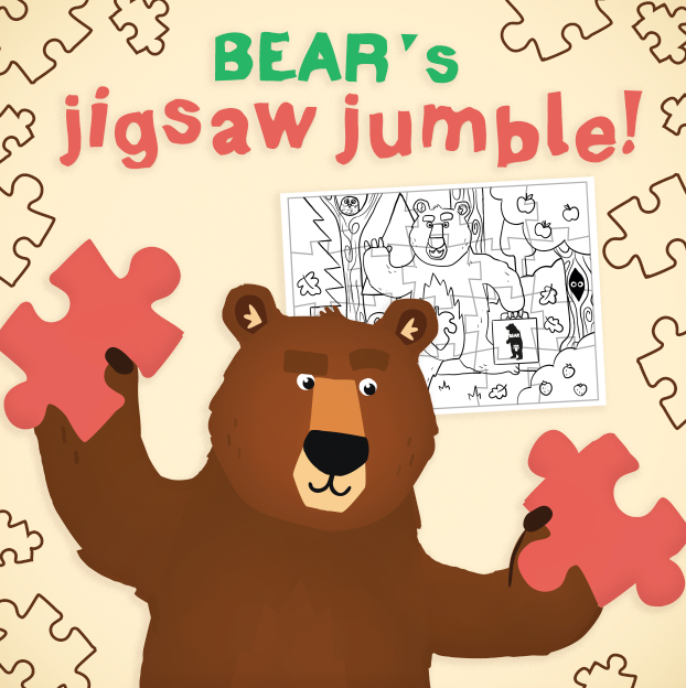 Jigsaw Jumble Activity BEAR's Activity Cave