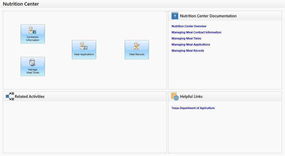 Adult Day Care Software Nutrition Center - Image