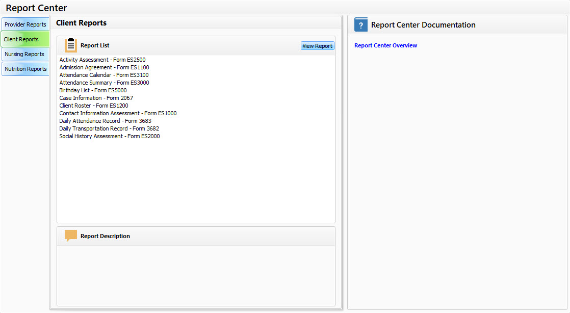 Adult Day Care Software Report Center - Image