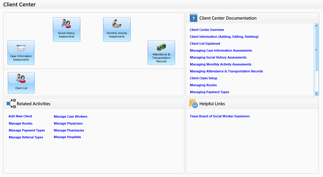 Adult Day Care Software Client Center - Image