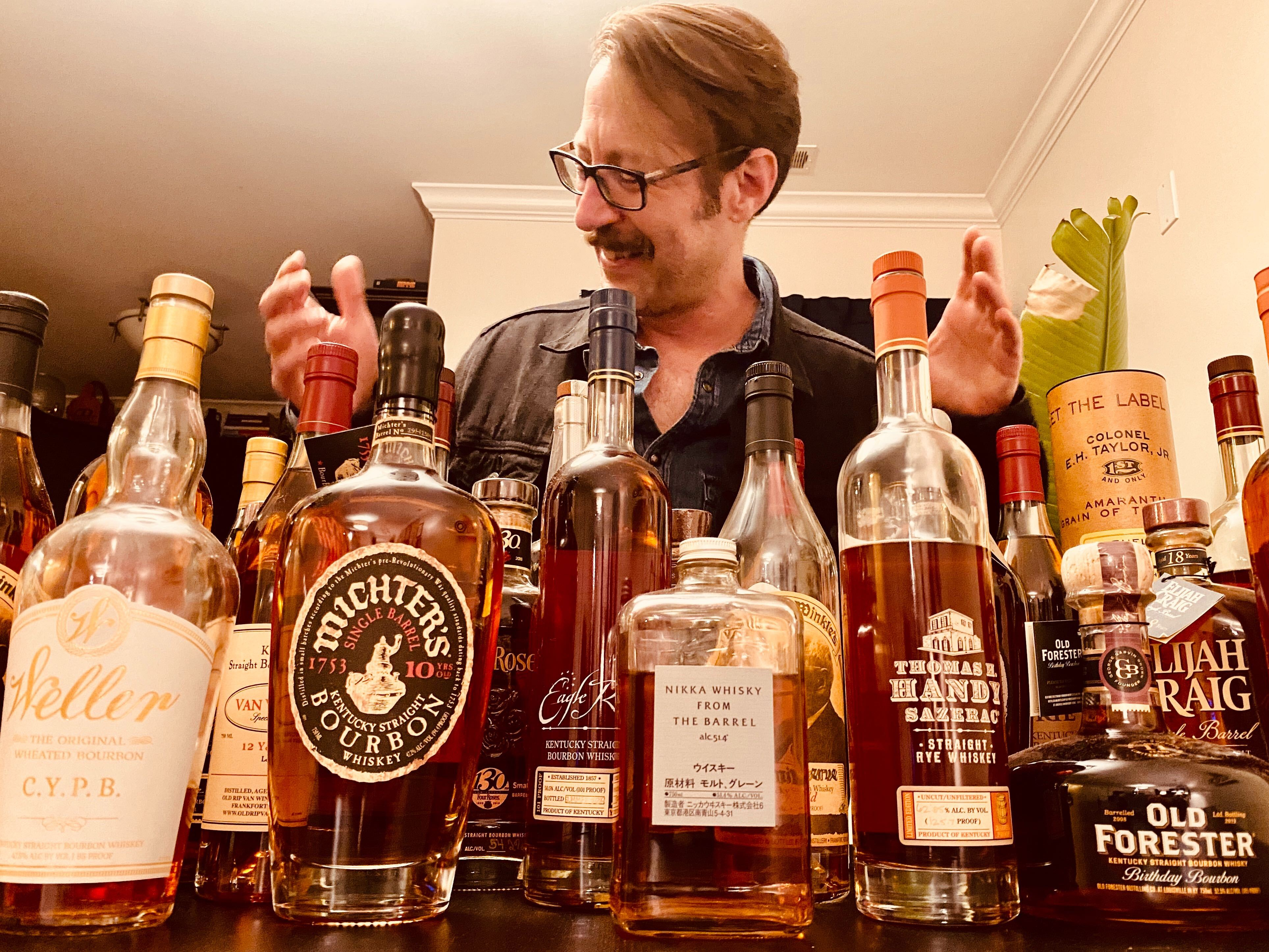 happy dan with whiskey